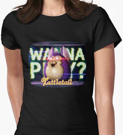 Wanna Play? Tattletail Womens Fitted T-Shirt