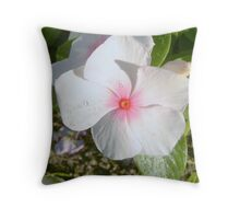 White Pedals Throw Pillow