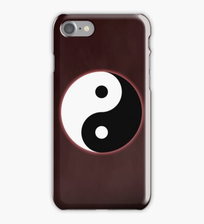 Ying Yang Colored Case-Red iPhone Case/Skin