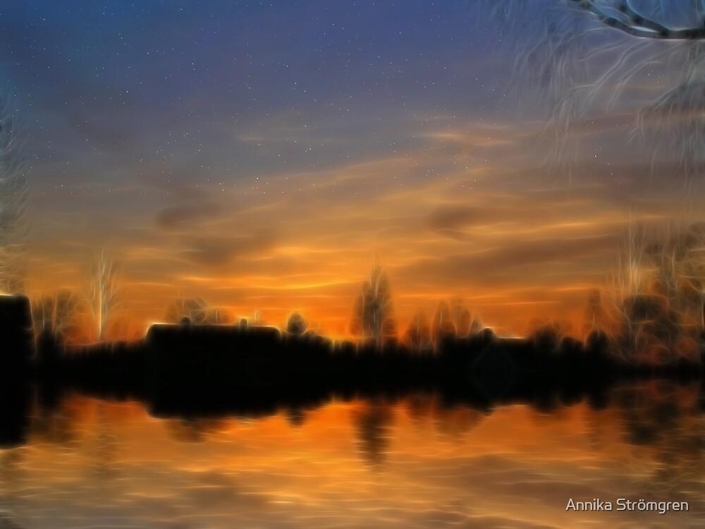 Fractal sunset by Annika Strömgren