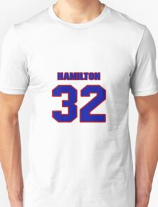 National football player Justin Hamilton jersey 32 T-Shirt