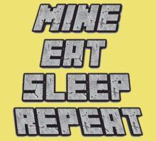 Mine Eat Sleep Repeat (minecraft) Kids Tee