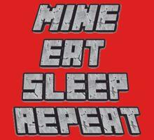 Mine Eat Sleep Repeat (minecraft) Baby Tee