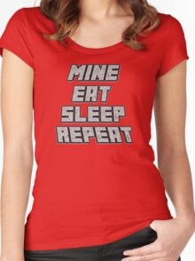 Mine Eat Sleep Repeat (minecraft) Women's Fitted Scoop T-Shirt