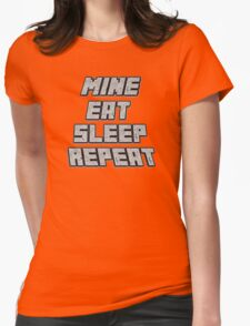 Mine Eat Sleep Repeat (minecraft) Womens Fitted T-Shirt