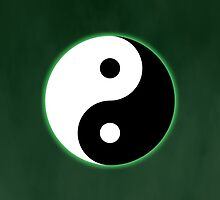 Ying Yang Colored Case-Green by TomsTops