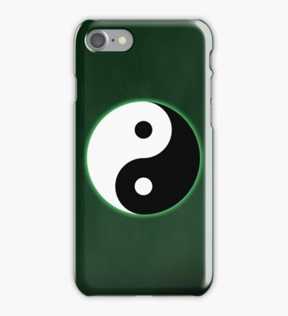 Ying Yang Colored Case-Green iPhone Case/Skin