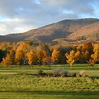 Autumn sunset in Dorset, VT by Doug Linder