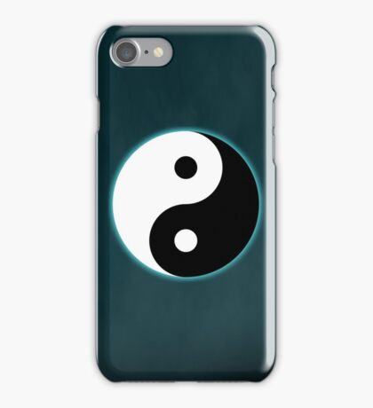 Ying Yang Colored Case-Light Blue iPhone Case/Skin