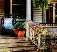 On an old porch by Mike  Savad