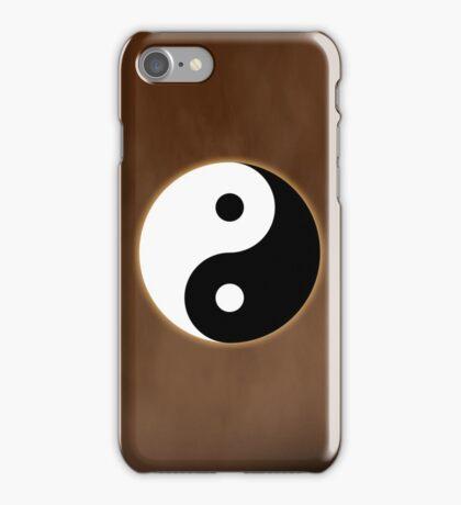 Ying Yang Colored Case-Orange iPhone Case/Skin