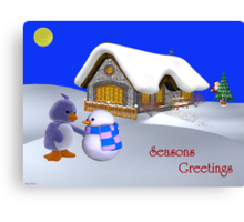 Seasons Greetings My Friend   Canvas Print