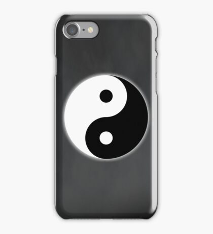 Ying Yang Colored Case-White/Grey iPhone Case/Skin
