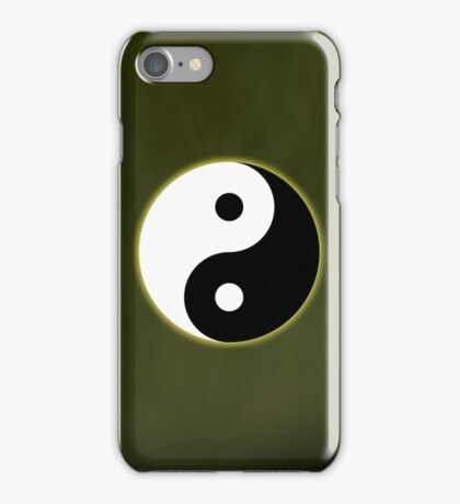 Ying Yang Colored Case-Yellow iPhone Case/Skin