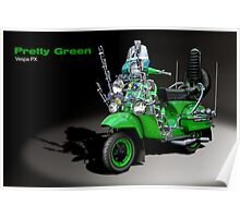 Vespa PX 125 Pretty Green Poster