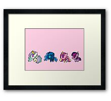 Weeny My Little Pony- Princesses Framed Print