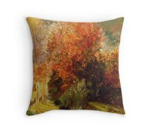 Orange bush Throw Pillow