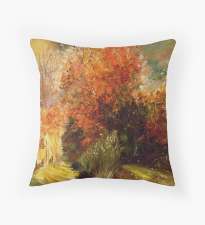 Orange bush Throw Pillow