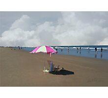 The Pink Umbrella Photographic Print