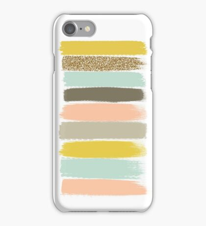 Madison - Brushstrokes in modern and bright happy color palette iPhone Case/Skin