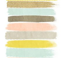 Madison - Brushstrokes in modern and bright happy color palette by charlottewinter