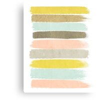 Madison - Brushstrokes in modern and bright happy color palette Canvas Print