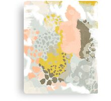 Upton - Modern abstract painting in bright and colors that pop but soothe Canvas Print