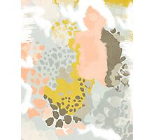 Upton - Modern abstract painting in bright and colors that pop but soothe Photographic Print