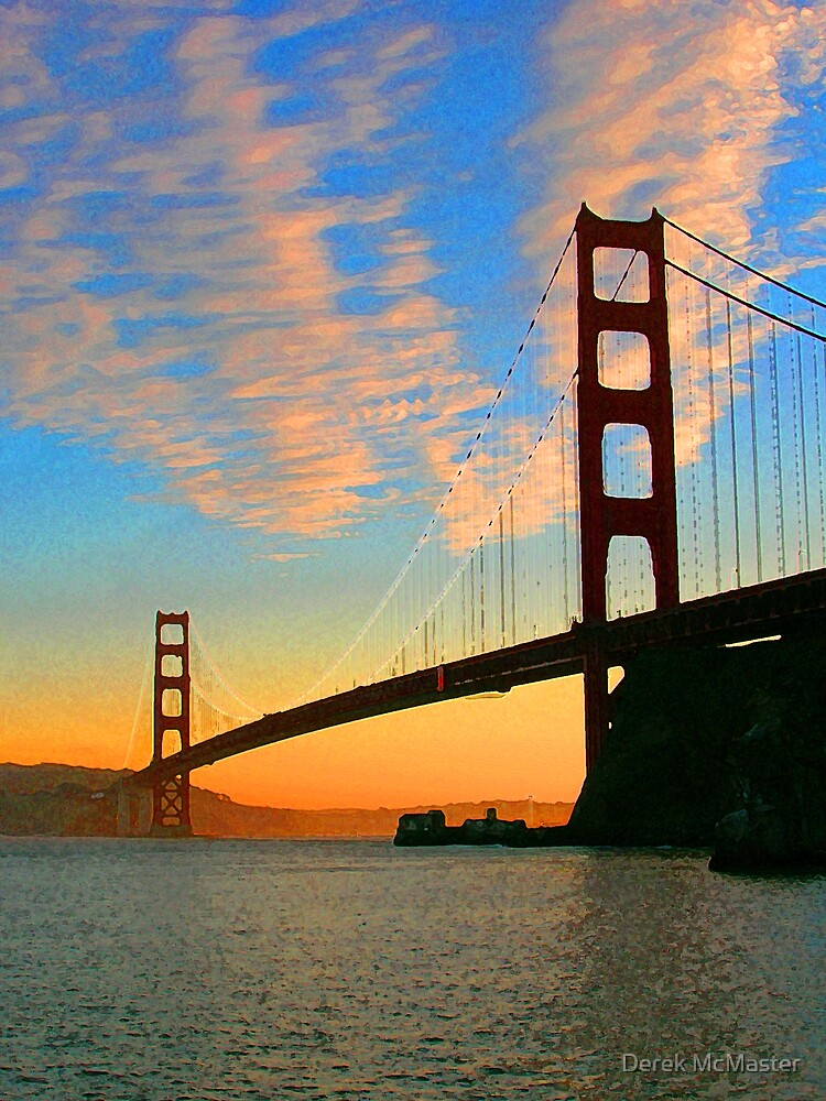 Golden Gate Bridge Sunset by Derek McMaster