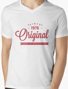 Since 1976 Original Aged To Perfection Mens V-Neck T-Shirt