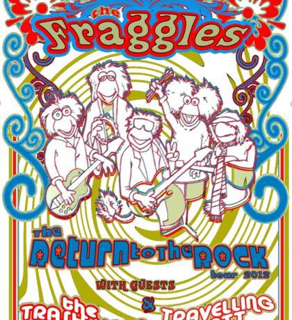 Fraggles - return to the rock tour Tee Sticker