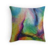 """A Destra"" original abstract artwork by Laura Tozer Throw Pillow"