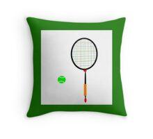 PLAY BALL abstract, tennis, badminton Throw Pillow