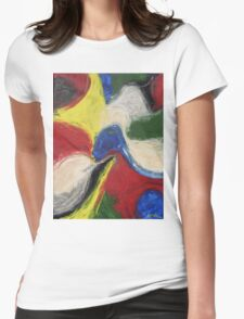 """""""Exuberance"""" original abstract artwork by Laura Tozer Womens Fitted T-Shirt"""
