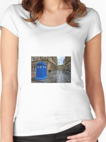 Glasgow Police Box  Women's Fitted Scoop T-Shirt