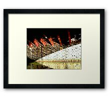 "under the bridge # 2 - "" six girders "" Framed Print"