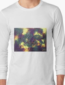 """Crystallised"" original abstract artwork by Laura Tozer Long Sleeve T-Shirt"