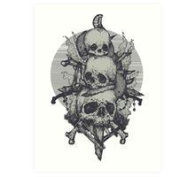 3 Skulls Art Print
