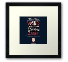 Whatever Makes You Weird Framed Print