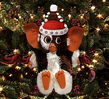 GIZMO READY FOR CHRISTMAS PILLOW AND OR TOTE BAG by ✿✿ Bonita ✿✿ ђєℓℓσ