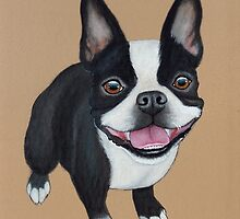 Boston Terrier by PaperTigressArt