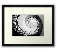 Spiral Stair Framed Print