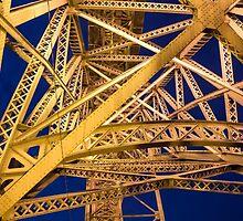 Golden Great Bridge by thirdiphoto