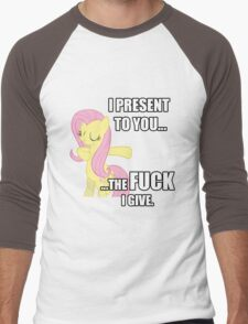 Fluttershy's Fucks Men's Baseball ¾ T-Shirt