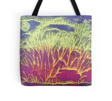 """Moonlit Forest"" original abstract artwork by Laura Tozer Tote Bag"