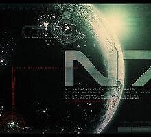 Mass Effect N7 monitor shot by Tony  Bazidlo