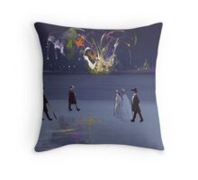 The firework display(from my original acrylic painting) Throw Pillow