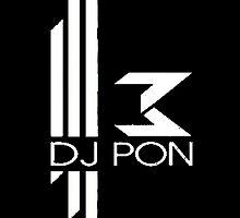 DJ Pon-3: White Logo by holycrow