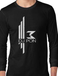 DJ Pon-3: White Logo Long Sleeve T-Shirt