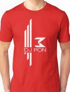 DJ Pon-3: White Logo Unisex T-Shirt